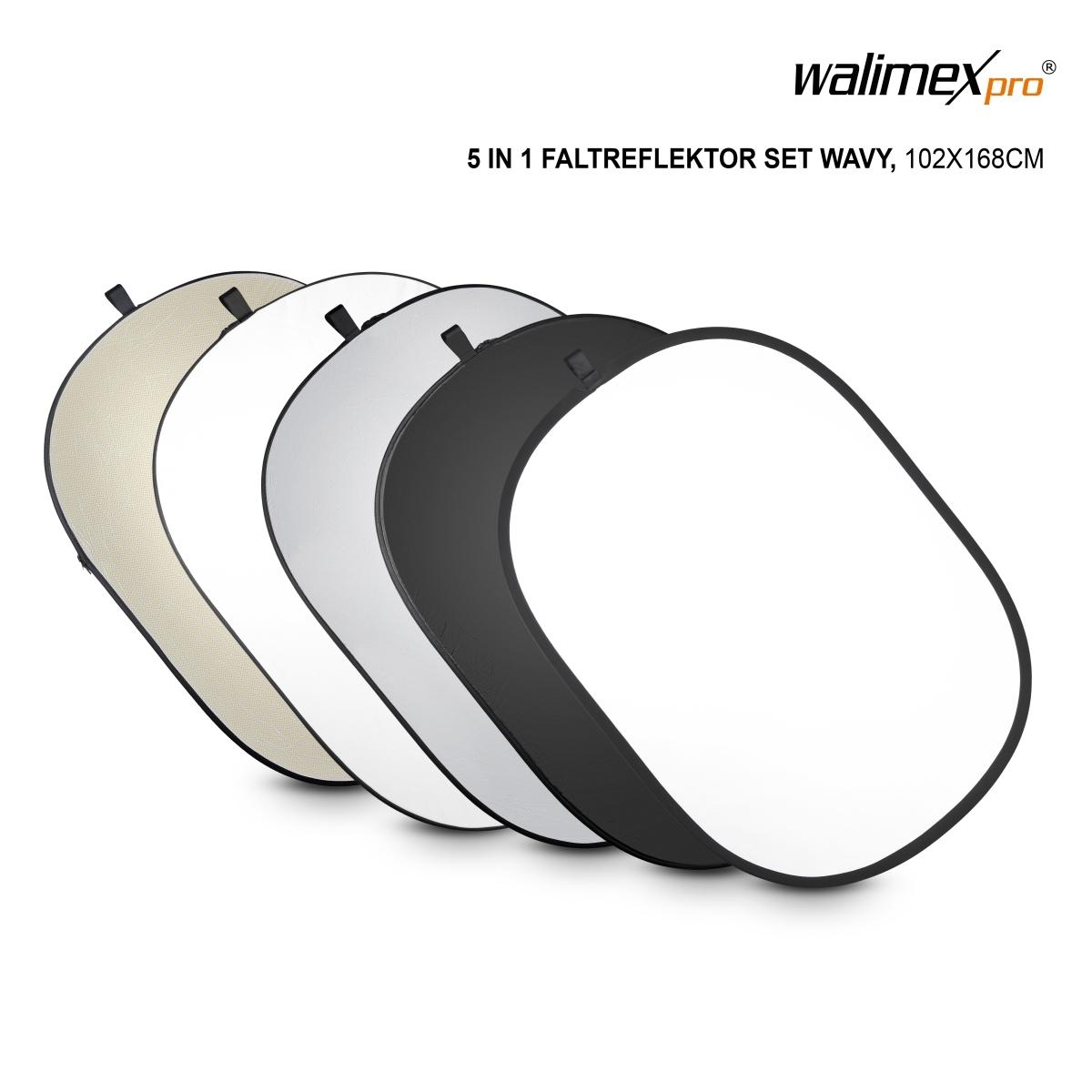 Multi Studio Reflektor walimex Faltreflektor silber//weiß Durchmesser 107cm