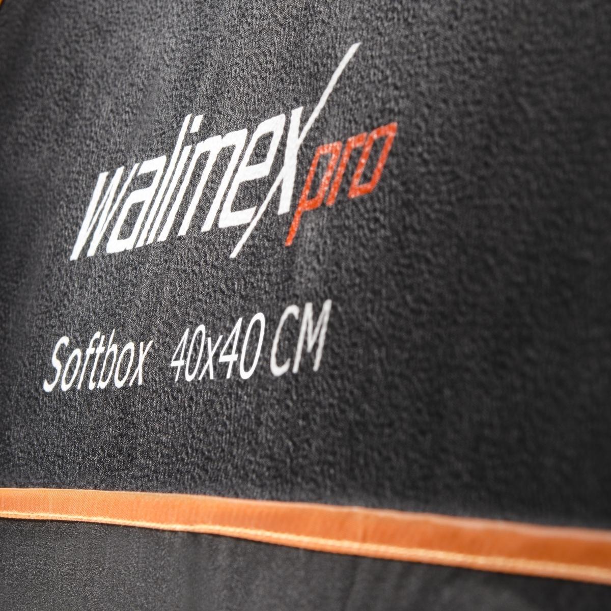 Walimex pro Softbox arancio Line 40x40cm Aurora//Bowens