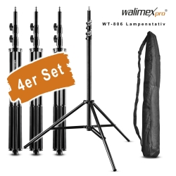 walimex pro Set of 4 WT-806 Lamp Tripods, 256cm