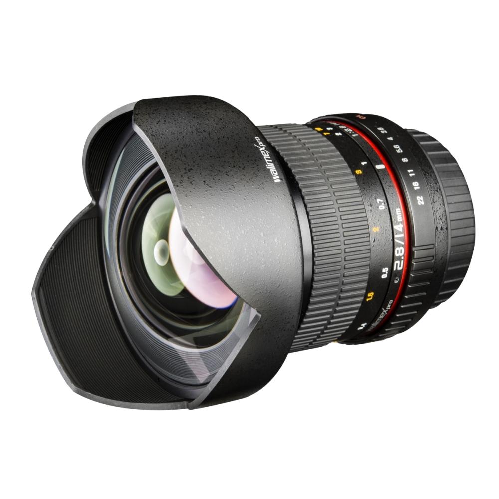 walimex pro Weitwinkel Objektiv 14mm 1:2,8 für Canon AF EOS 600D 60D ...