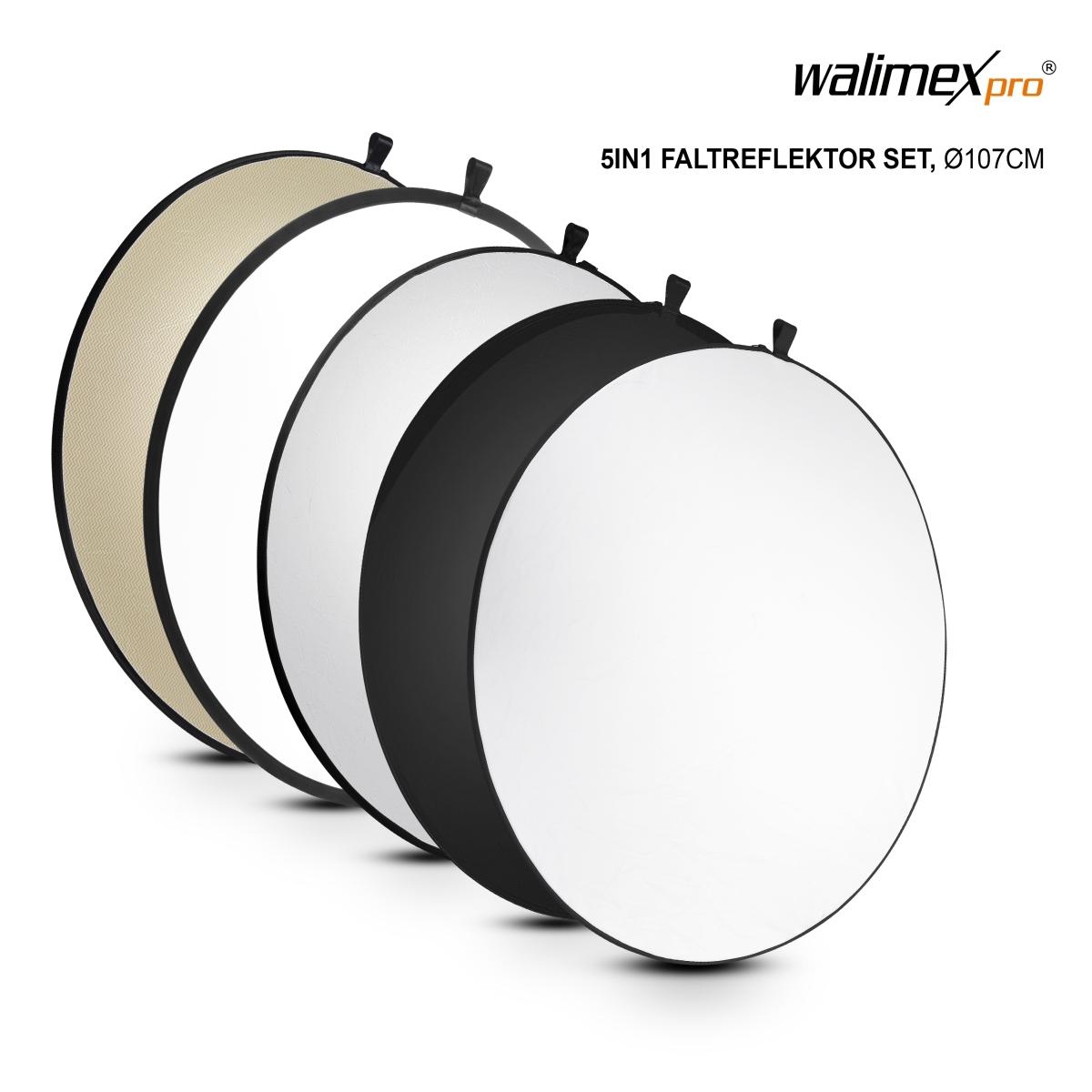 Multi Reflektor walimex 5in1 Faltreflektor Set 91x122cm