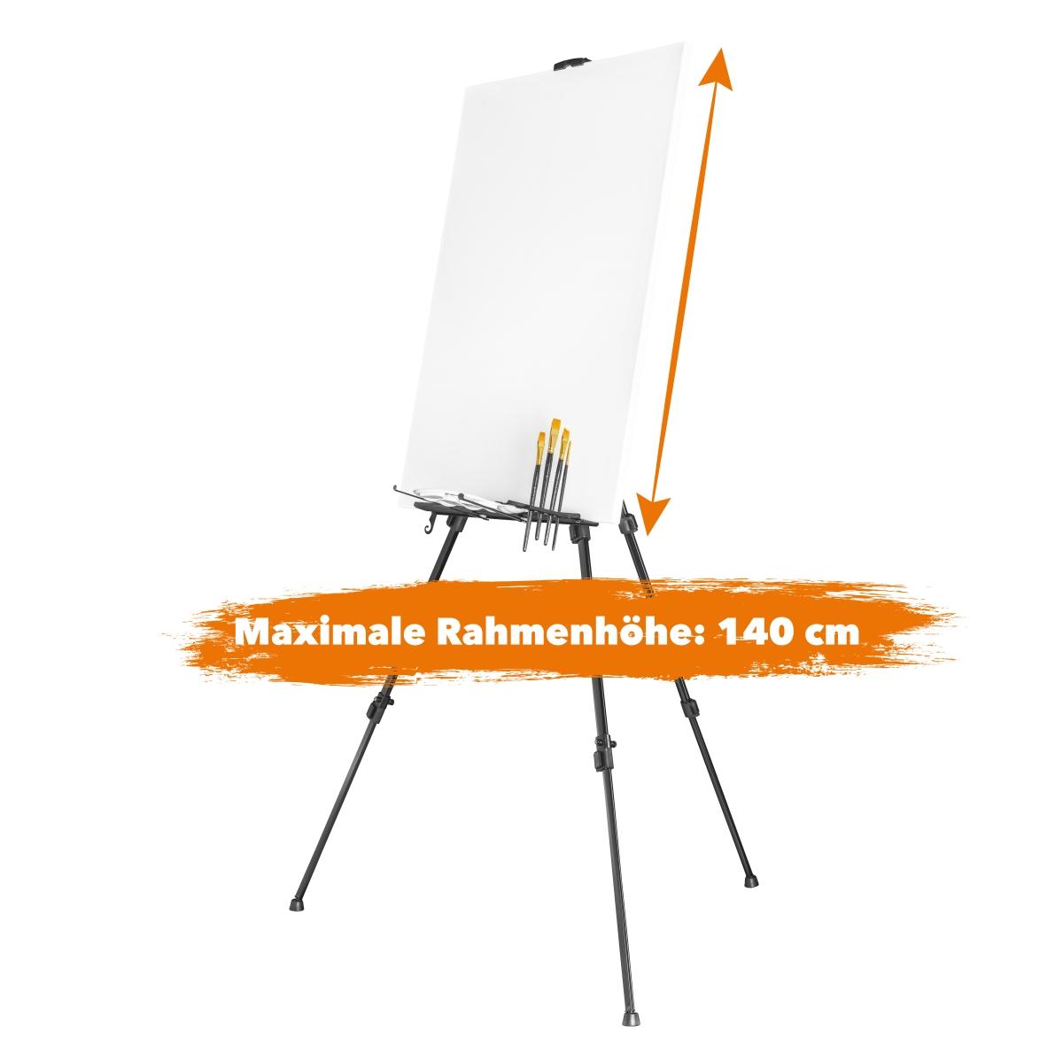 walimex pro Aluminium Atelierstaffelei//Malstaffelei XL 180cm bis 6kg belastbar